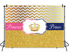 Princess or Prince Backdrops Baby Shower Gender Reveal Party Decor Background