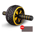 AB Abdominal Roller Wheel Fitness Equipment Workout Exercise Home with Knee Mat