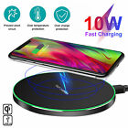 Wireless Phone Fast Charger Qi 10W Pad Mat for iPhone 8 11 X XR XS Galaxy S10 S9