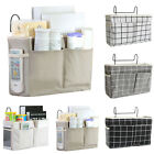 Bedside Caddy Hanging Storage Bag Pocket Wall Holder Couch Container Organizer