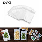 100pcs White/Clear Retail Self Seal Pack Packaging Bag Storage Hang Hole Zipper