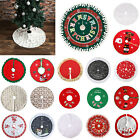 Round Christmas Tree Skirt Mat Party Snow Mat Cover Home Party Holiday Decor