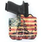 OWB Kydex Holster for Hanguns with Crimson Trace CMR 208  DON'T TREAD SNAKE FLAG