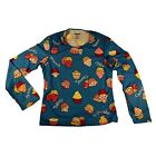 Hot Chillys Youth Pepperskins Crewneck Base Layer Top - Cupcakes/Blue - PS3400P