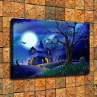 Scary Halloween Wallpaper HD Canvas printed Home decor painting Wall art poster