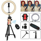 Dimmable LED Ring Light +Tripod Stand Phone Holder Remote for Photo Video Studio