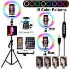 """8""""/10"""" LED Ring Light with Tripod Stand  Tablet Holder Dimmable Ring light Kit"""