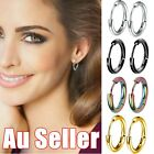 1pair Hinged Segment Sleeper Clicker Ring Hoop Ear Lip Nose Earrings Stainless