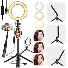 Selfie LED Ring Light Kit w/Tripod Phone Holder Desk Stand Dimmable Studio Photo