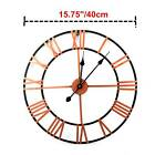 Large Wall Clock Metal Oversized Decorative Home Battery Operated Roman Numeral
