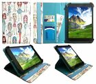 Linx 1010 10.1 Inch Windows Tablet Universal Rotating Case Cover with Card Slots