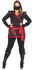 Leg Avenue Women's Plus-Size 4 Piece Ninja Assassin Costume