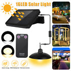 16LED Solar Pendant Light Indoor Outdoor Garden Hanging Shed Wall Lamp Kit IP65