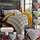 KING SIZE BEDDING TEDDY FLEECE Duvet Cover Set Ultra Soft Highland Tartan Check