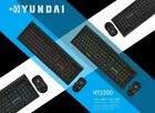 Hyundai Hy2200 2.4ghz Wireless Keyboard And Mouse Set For Office/games/desktop