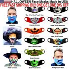 Halloween Skull Vampire Witch Jack O Lantern Face Masks Reusable Washable Cloth