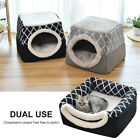 2in1 Cat House Cat Bed Tent Warm Fleece Small Puppy Dogs Indoor Igloo/Cave Nest
