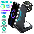 3in1 Wireless Fast Charging Dock Station Charger Stand For Air Pods Phone iWatch