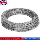Razor Security Wire Galvanised Steel Security Barbed Fence Fencing 60m/100m/150m