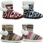 LADIES SLIPPERS WOMEN MEMORY FOAM FUR THERMAL ANKLE BOOTS WARM BOOTIE SHOES SIZE