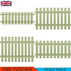 Picket Fence Impregnated Pinewood Barrier Palisade Panels Lawn Edging Garden