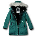 NWT Hollister by Abercrombie&Fitch Women's Cozy Lined Down Parka Fur Jacket