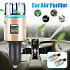 2in1 car air ionic purifier fresh oxygen ozone ionizer cleaner dual usb charger