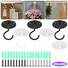 3 6x 66lb wall mount ceiling hooks coated screw hanger for hanging plant lantern