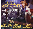 NA League of Legends Account LOL Smurf 40.000 - 65.000 BE IP Level 30+Unranked