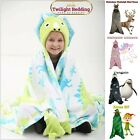 XMAS KIDS HOODED BLANKETS | Plain Printed | Christmas Throw for Boys & Girls