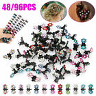 Lot Rhinestone Flower Hair Clips Claw Hairpin Mini Jaw Clip For Kids Girls Baby
