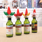 Christmas Xmas Wine Bottles Cover Santa Claus Hat Home Party Tableware Decor Lot