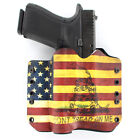 OWB Kydex Holster for Hanguns with OLIGHT PL-2RL BALDR - DON'T TREAD USA FLAG