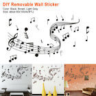 School Mural Pvc Diy Removable Wall Sticker Musical Notes Home Decoration Art