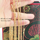 45 Cm - 18k Gold Filled Thin Chain