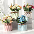 Artificial Flowers With Ceramic Pot Wedding Home Indoor Outdoor Decorations