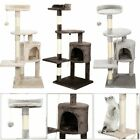 112CM Large Cat Tree Scratching Post Kitten Climbing Tower Activity Centre UK