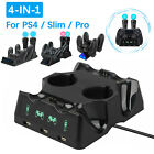 4in1 Controller Charger Dock USB Charging Station for PS4/Slim/Pro PSVR PS MOVE