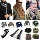 Men Classic Army Scarf Warm Wrap Neck Shawl Soft Casual Cashmere Tassels Scarves
