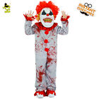 Kids Cosplay Bloody Clown Costumes Halloween Party Boys Scary Clown Jumpsuit