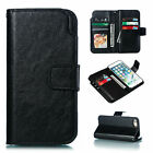 Pure Color Business Flip Leather Soft 9 Card Wallet Phone Case Cover For Samsung