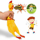 Chewing Toy Squeeze Shrilling Screaming Rubber Chicken Squeaker Pet Bite Toy GL