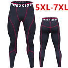 Mens Oversized Leggings Compression Trousers 5XL 7XL Cool Dry Tight Long Pants