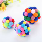 Soft Colourful Kitten Cat Toy Plush Ball Pet Dog Toys Balls Interactive Assorted