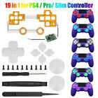 7 Color LED Flash Light Thumbsticks Mod ABXY Button For PS4/Slim/Pro Controller