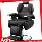 Classic Hydraulic Recline Hair Salon Iron Leather Sponge Barber Chair New