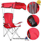 Camping Chair With Canopy Foldable For Outdoor Garden Fishing Beach Sunshade Au
