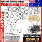 200 X Silver Plated Jump Rings 5mm X 0.7mm For Diy Crafts Jewellery Findings Au