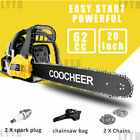 62cc Gas Powered Chainsaw 20 Inch 2 Stroke Handed Petrol Gasoline Chain Saw US#