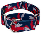 Country Brook Petz® 1 1/2 Inch Navy Blue and Red Camo Martingale Dog Collar